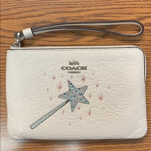 EUC Coach Glinda the Good Witch  leather wristlet